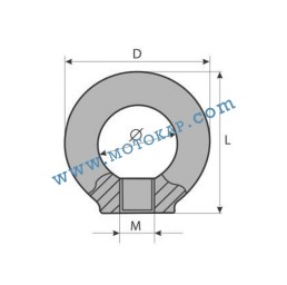 Ринг гайка М24 електропоцинкована 1,8 тона, SF-4:1