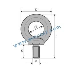 Ринг болт М16 електропоцинкован 0,7 тона, SF-4:1