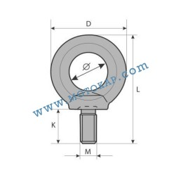 Ринг болт М22 електропоцинкован 1,5 тона, SF-4:1