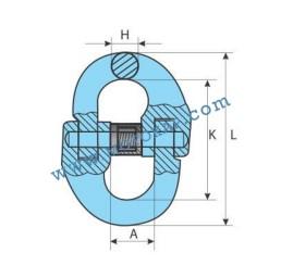 Кентерни звена клас 10, 16,0 тона, тип GR100-KL, SF-4:1