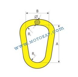 Халка единична кранова, 9,0 тона, клас 8, тип OM, SF-5:1