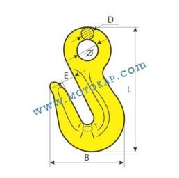 Реглаж (скъсяваща кука) за верига 2,0 тона с ухо, клас 8, тип KS, SF-4:1