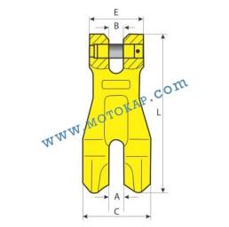 Реглаж (скъсяваща кука) за верига 15,0 тона, клас 8, CLUTCH KKS, SF-4:1