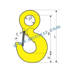 Кука с ухо 3,0 тона, клас 8, тип KO, SF-5:1
