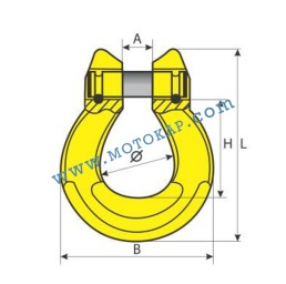 Омега свързващо звено 8,0 тона за верига 16 мм