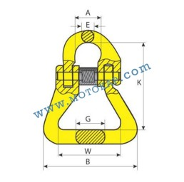 Кентерно / съединително звено 2,0 тона, клас 8, тип KLC, SF-4:1