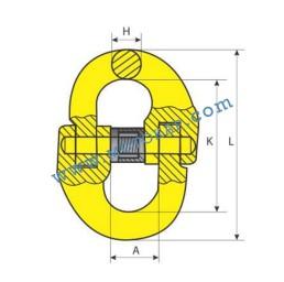 Кентерно / съединително звено 12,5 тона, клас 8, тип KL, SF-4:1