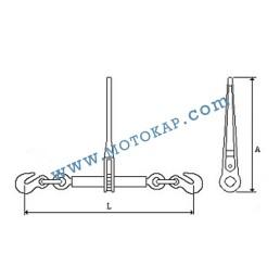 Верижен обтегач с тресчотка, тип INT, 16000/32000 daN, за верига 16 мм