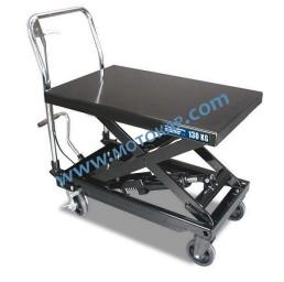 Хидравлична ножична платформена количка Н01307, 130 кг/700 мм, 710х450 мм