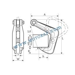 Лапа/захват за метални профили 3000 кг*, тип HHC