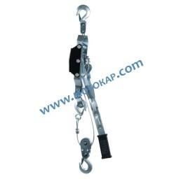 Ръчна въжена лебедка 2000/4000 кг с тресчотка, 3,0/1,5 метра, тип HS-H