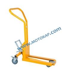 Транспалетна количка с 1 вилица, 200 кг, 58 см, бързо повдигане с педал