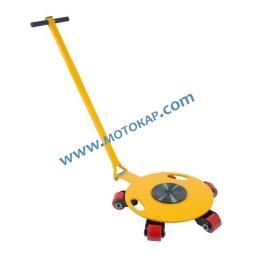 Ролкова количка 4,0 тона с дръжка, въртящ диск и въртящи колела
