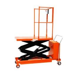 Платформена количка/вишка ножична полуелектрическа мобилна 350 кг / 2 метра