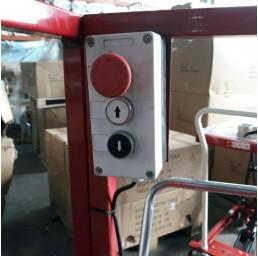 Платформа/вишка ножична полуелектрическа мобилна 300 кг / 3 метра