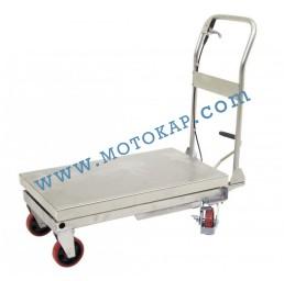 Хидравлична ножична платформена количка неръждавейка T0002, 250 кг/890 мм, 1120 х 500 мм