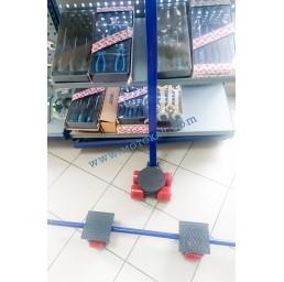 Тежкотоварни ролкови колички / танкети тип XY, 8,0 тона (4+2+2) 3 части