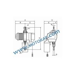 Ел. верижен подемник/телфер 0,5 т. 380 V 50 Hz с кука и кабелно управление, тип BSF