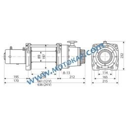 Лебедка електрическа автомобилна 24V, 6,8 т. (15 000 lb), 27 м, 2,7/3,6 kW, DV