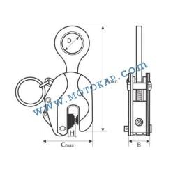 Вертикална лапа/захват за ламарина 1,0 тон 0÷22 мм SF 4:1