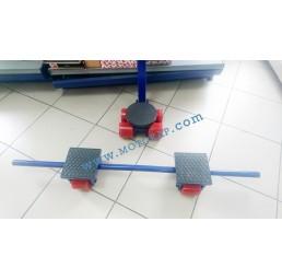 Ролки за тежки товари тип XY, 8,0 тона (4+2+2) 3 части