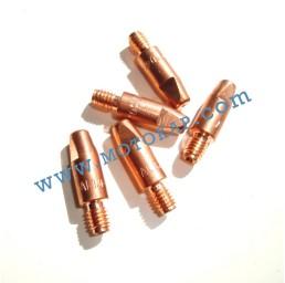 Дюза контактна 150А М6х25 ø1,0 мм алуминий