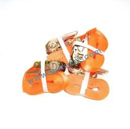 Колан укрепващ 0.8т/5.0м с тресчотка - оранжев