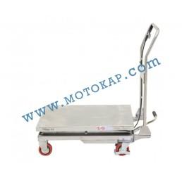 Хидравлична ножична платформена количка неръждавейка T0001, 100 кг/1220 мм, 1150 х 830 мм