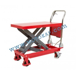 Хидравлична ножична платформена количка T0008, 500 кг/990 мм, 1100 х 500 мм