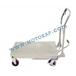 Хидравлична ножична платформена количка неръждавейка T0004, 450 кг/890 мм, 1130 х 500 мм