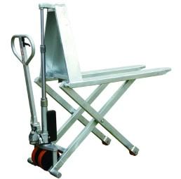 Транспалетна ножична хидравлична количка от неръждаема стомана 1000 кг/800 мм