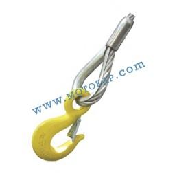 Кука с ухо с тесен отвор 0,5 тона, клас 8, тип KO, SF-5:1
