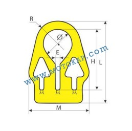 "Халка ""А"" нагласяема за вериги, 1,0 тона, клас 8, тип TRI, SF-4:1"