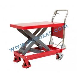Хидравлична ножична платформена количка T0006, 300 кг/990 мм, 1170 х 500 мм