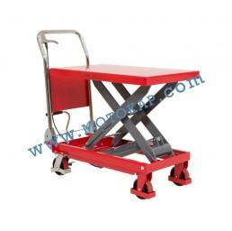 Хидравлична ножична платформена количка T0008, 500 кг/880 мм, 1100 х 500 мм