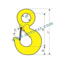 Кука с ухо 0,5 тона, клас 8, тип KO, SF-5:1