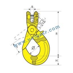 Кука за верига самозаключваща 1,12 тона, клас 8, тип KAL, SF-4:1