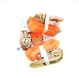 Колан укрепващ 0.25т/4.5м с тресчотка - оранжев