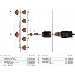 Шланг за механизирано плазмено рязане CP161 DAR