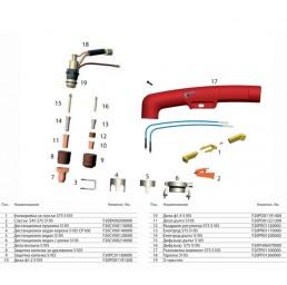 Шланг за ръчно плазмено рязане S105 6m