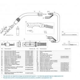 Шланг за ръчно заваряване TB 360 3м