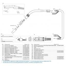 Шланг за ръчно заваряване TB 380 3м