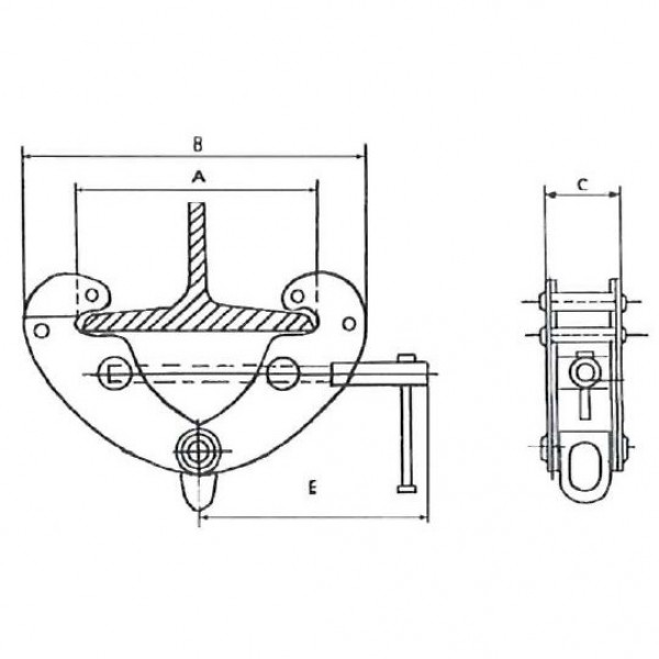 Скоба за греда 5000 кг 90÷355 мм