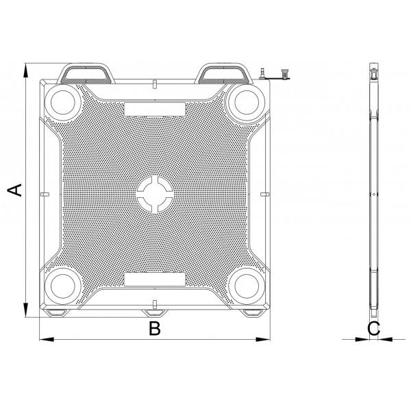 Пневматична повдигателна възглавница 85 тона 27 ÷ 550 мм