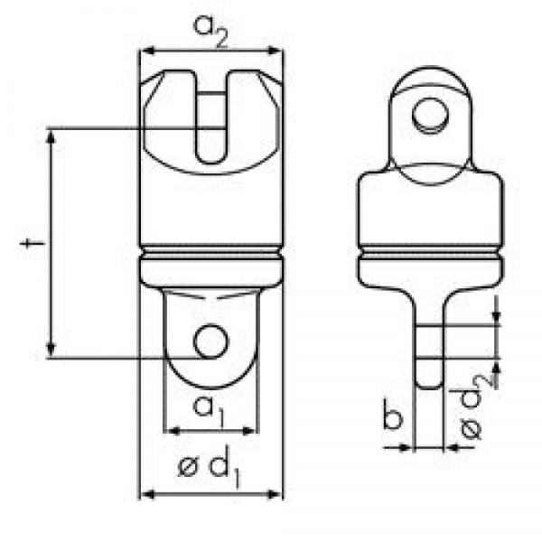 Върток вилка-ухо 4,0 тона, клас 10, за верига 10,0 мм, SF 4:1