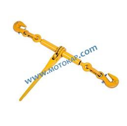 Верижен обтегач с тресчотка и заключващи куки 12,6 т 6300 daN за верига 10,0 мм EN-12195-3