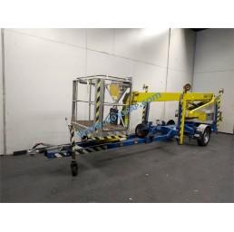 Електрическа вишка на ремарке, хидравлични стабилизатори, 200 кг, 10,5/12,5 м, 24V/230V