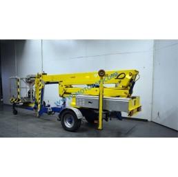 Електрическа вишка на ремарке, хидравлични стабилизатори, 200 кг, 16,3/18,3 м, 24V/230V